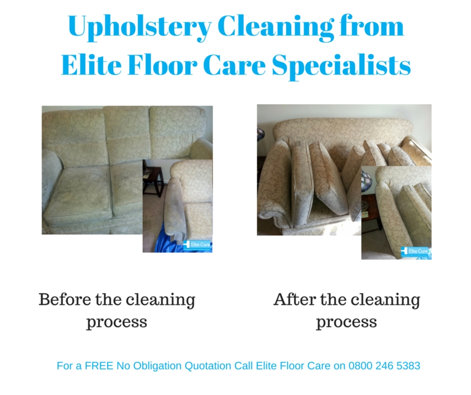 Upholstery Cleaning Before and After from Elite Floor Care Specialists, see more at www.elitefloorcarespecialists.com